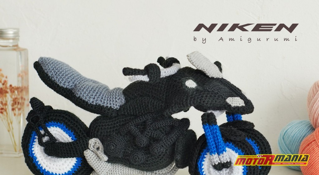 Yamaha Niken Amigurumi szydełkowanie wypchana zabawka (11)