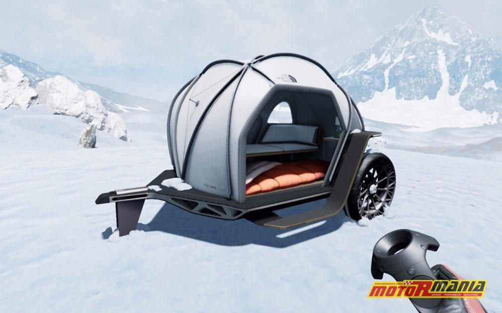 BMW i The North Face przyczepa z materiałem Futurelight (2)
