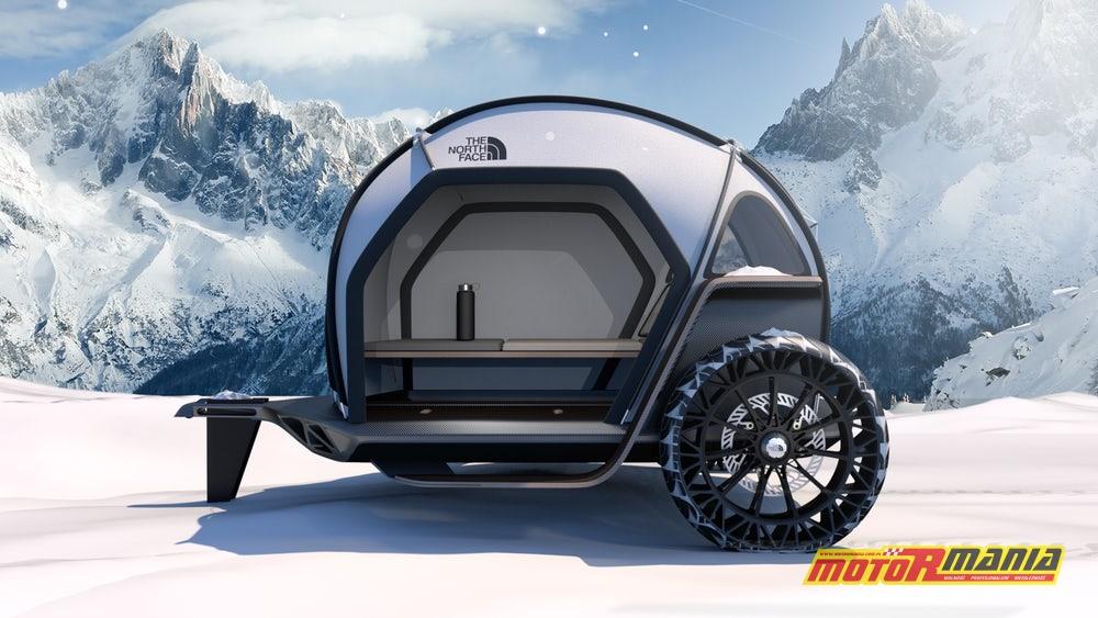 BMW i The North Face przyczepa z materiałem Futurelight (4)