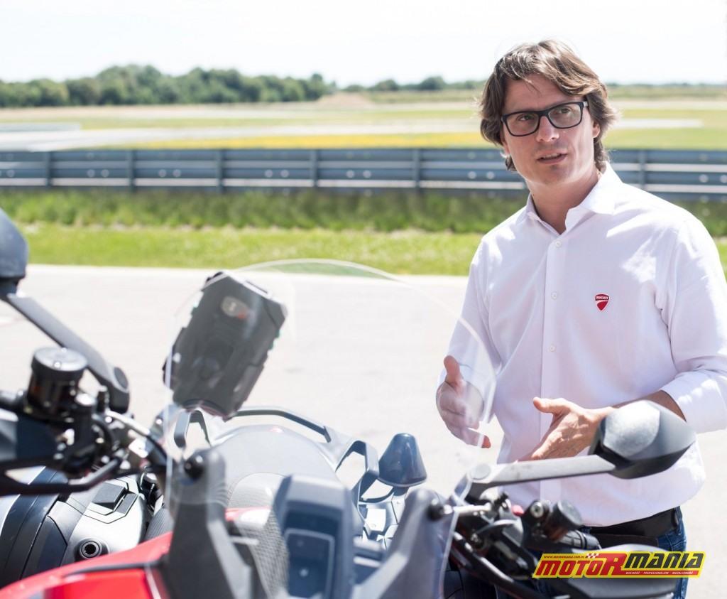 Pierluigi Zampieri, manager działu Vehicle Innovation w Ducati.