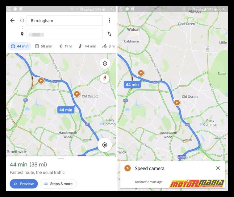 google mapy fotoradar
