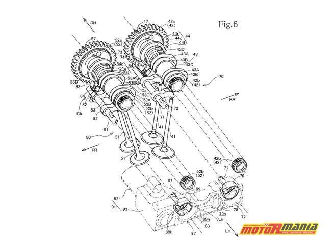 zmienne fazy rozrządu Honda CBR1000RR CBR1100RR Fireblade (5)
