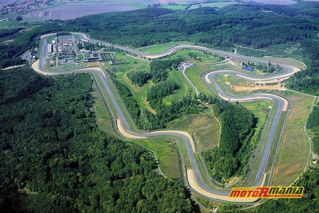 Autodrom Brno z lotu ptaka.