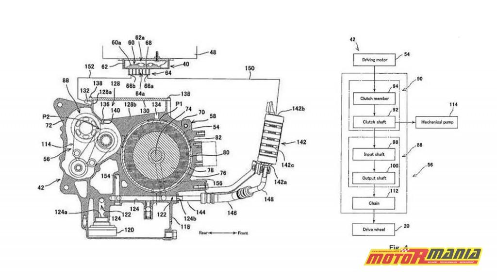 silnik elektryczny z chlodzeniem i skrzynia biegow kawasaki