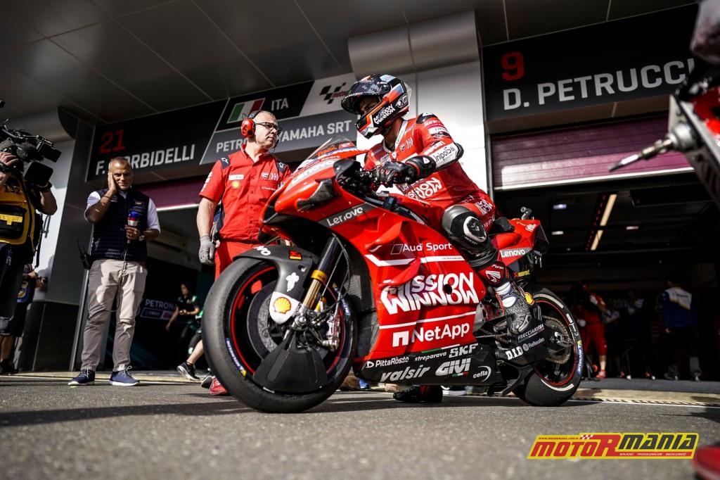"""Tylny spoiler działa w parze z osłonami przedniego koła, które mają odpowiednio """"rozbijać"""" potwietrze. Foto: Ducati"""