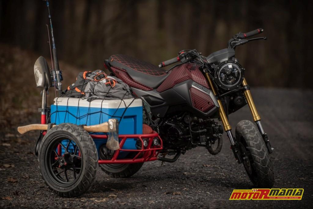 Honda Grom GUS MSX125 wózek boczny (4)