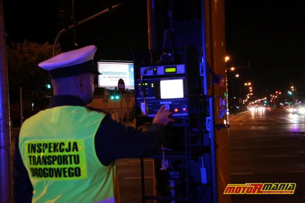 fotoradar policjant inspekcja ruchu drogowego - fot CANARD