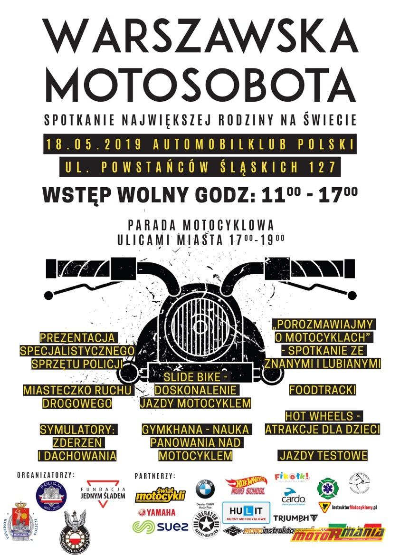 plakat Moto Sobota