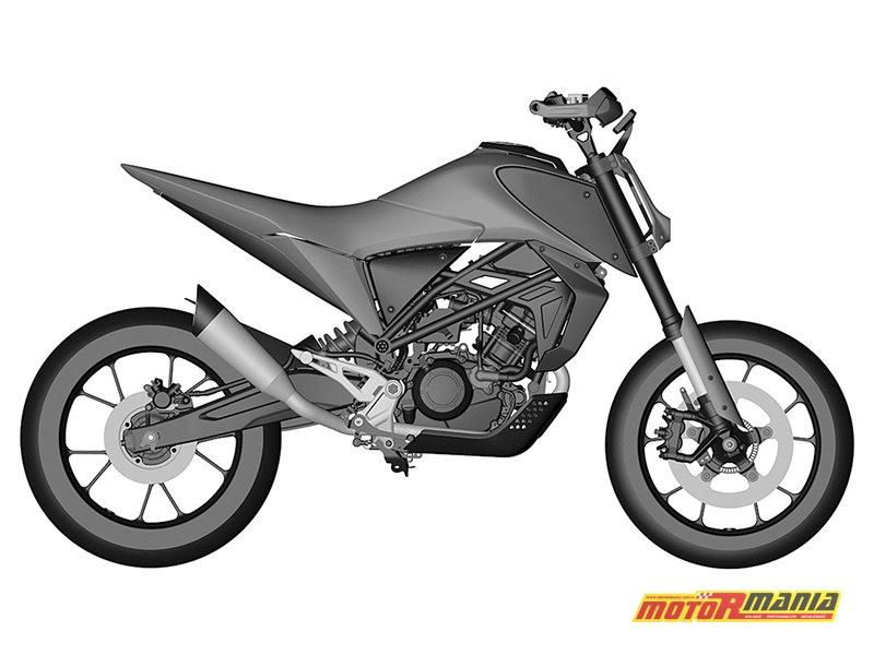 Honda CB125M rendery patentowe (1)