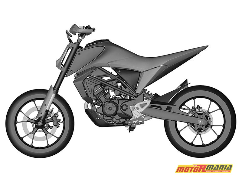Honda CB125M rendery patentowe (2)