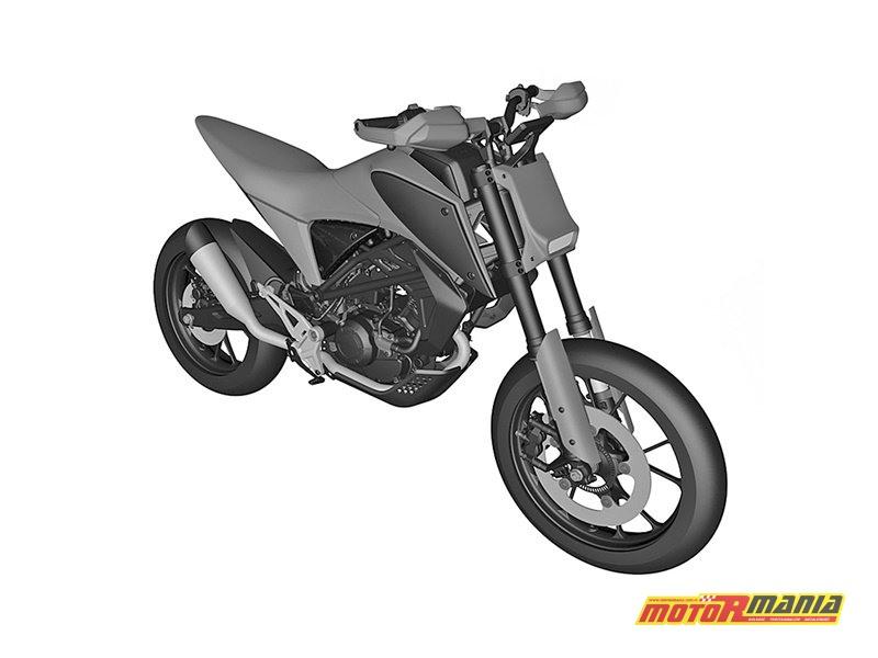 Honda CB125M rendery patentowe (3)