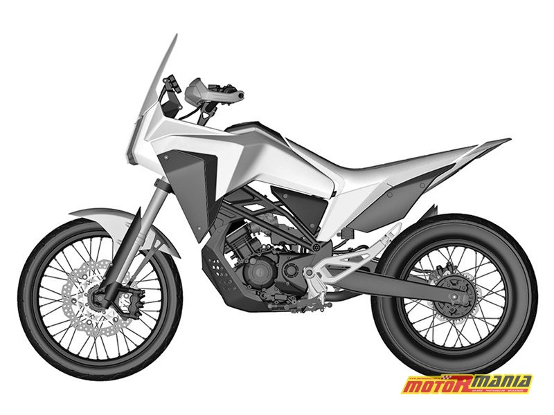 Honda CB125X rendery patentowe (2)