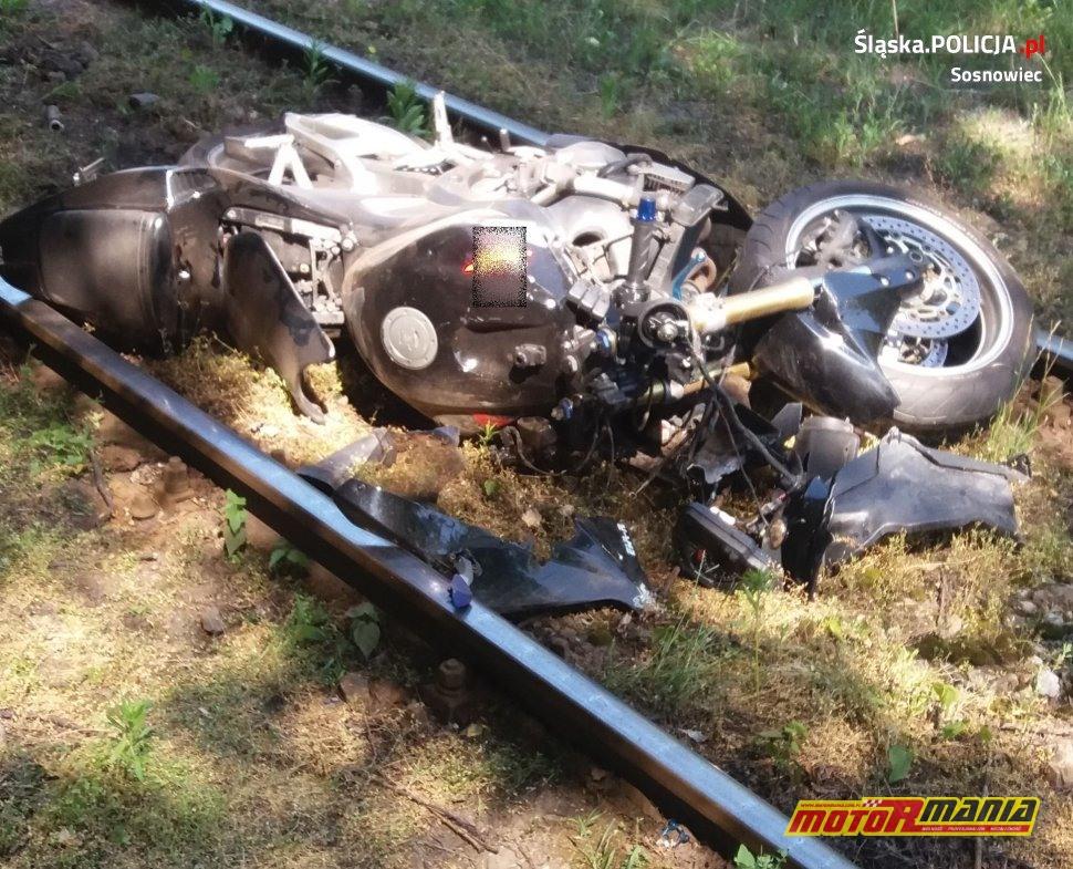 Motocykl biorący udział w wypadku.