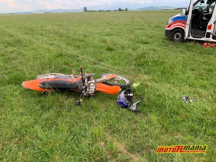 szybowiec wypadek motocross nowy targ - fot Michal Adamowski dla podhale24_pl