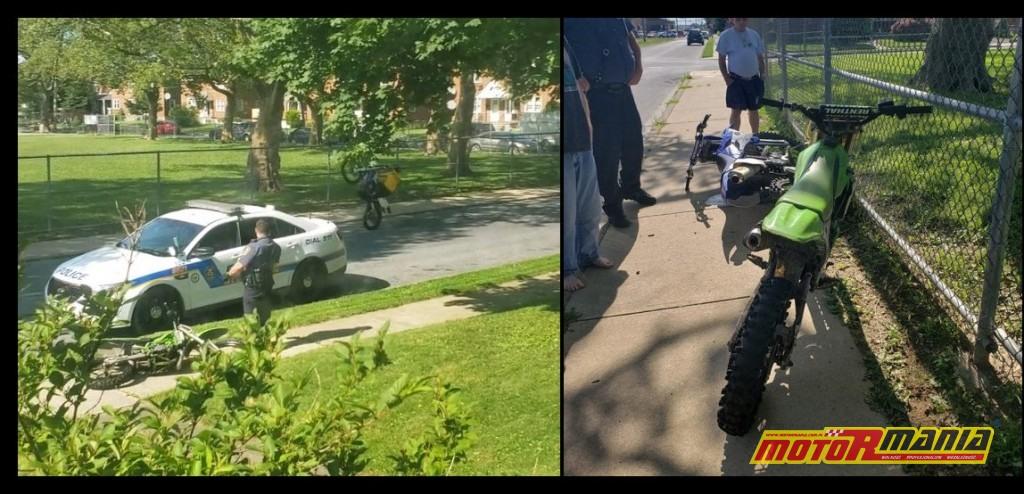 wheelie przy policji crossy allentown