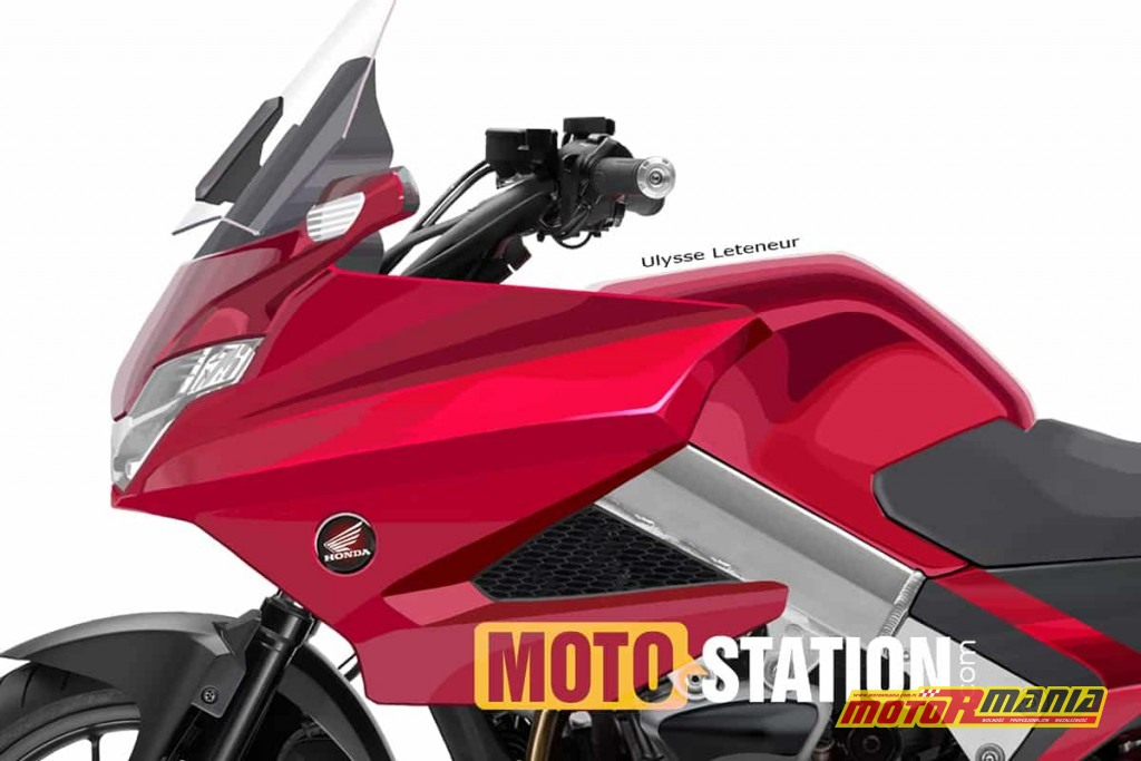 Honda Deauville 1000 2020 szkic