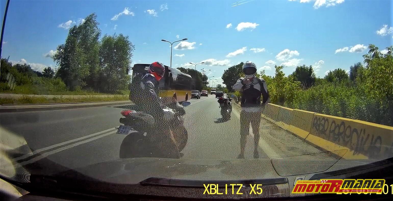 motocyklisci wymuszenie