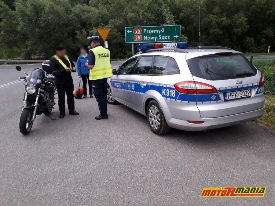 policja motocykl slonne tyrawa