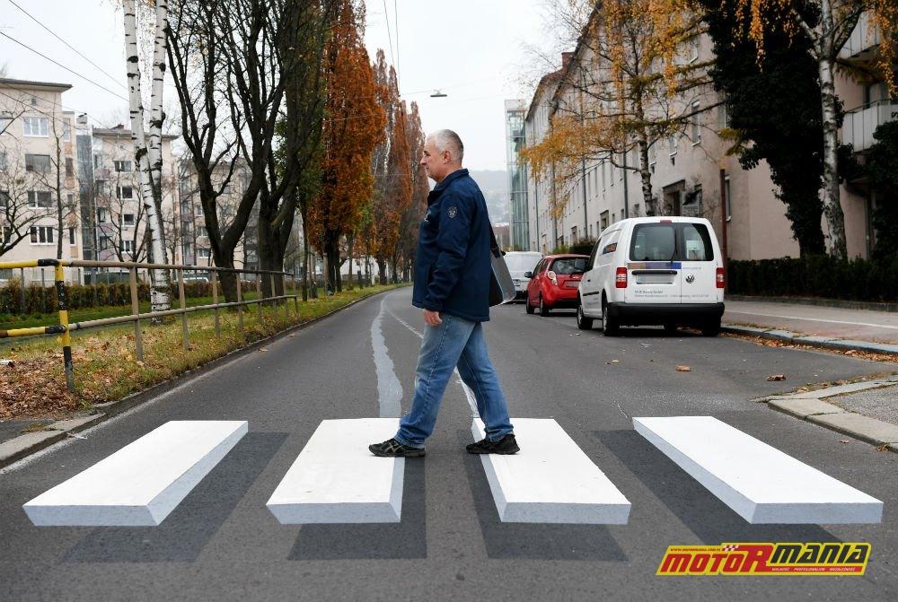 Przejście dla pieszych namalowane w 3D - nietypowy pomysł na poprawienie bezpieczeństwa w Niemczech.