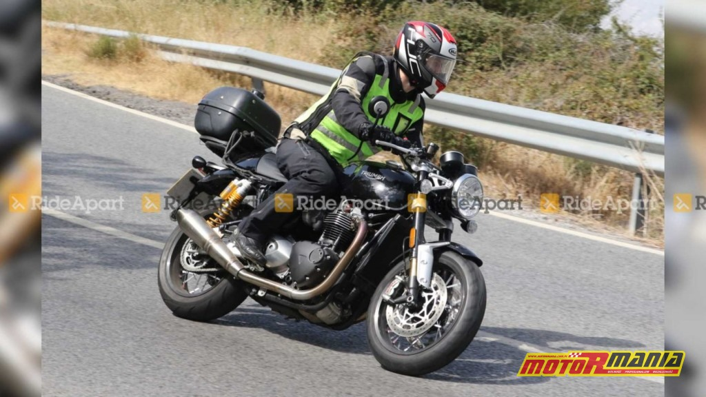 Triumph Thruxton Black 2020 spy shot (1)
