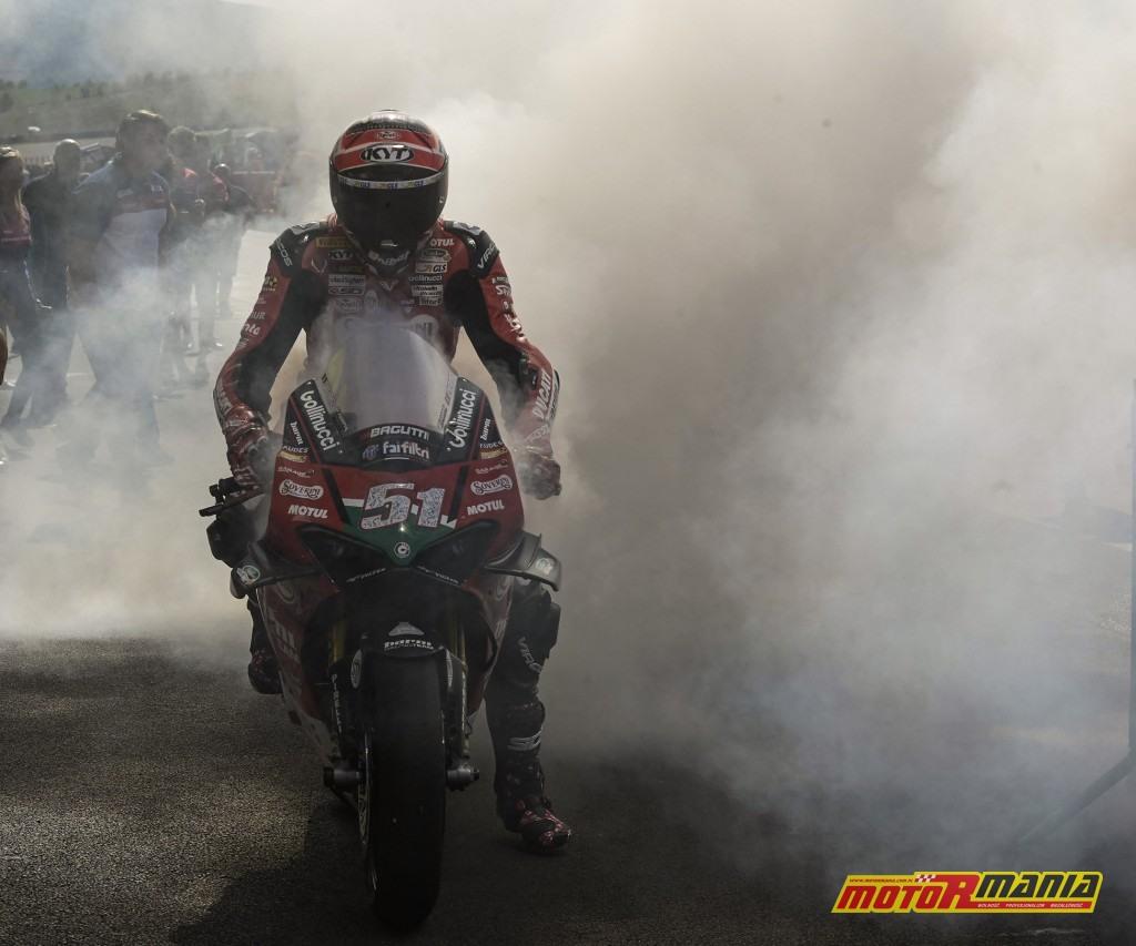 Michele Pirro świętuje siódme zwycięstwo w tym sezonie - zdjęcia: civ.tv
