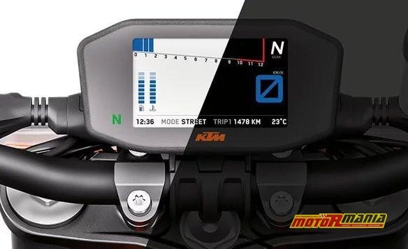Ekran TFT w KTM 1290 Super Duke R 2019