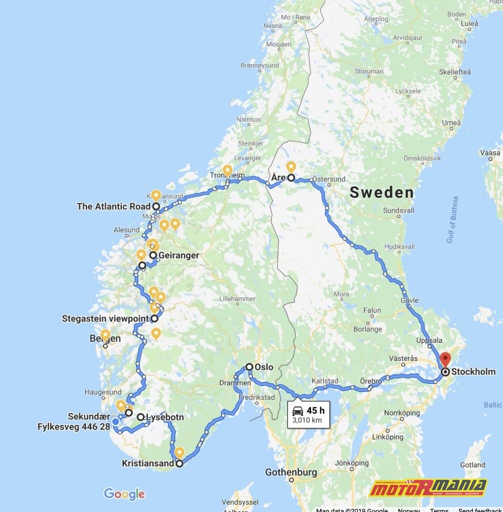podróż norwegia