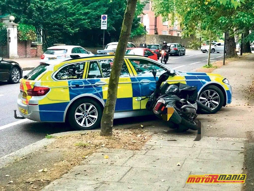 policja londyn taranowanie przestępcow