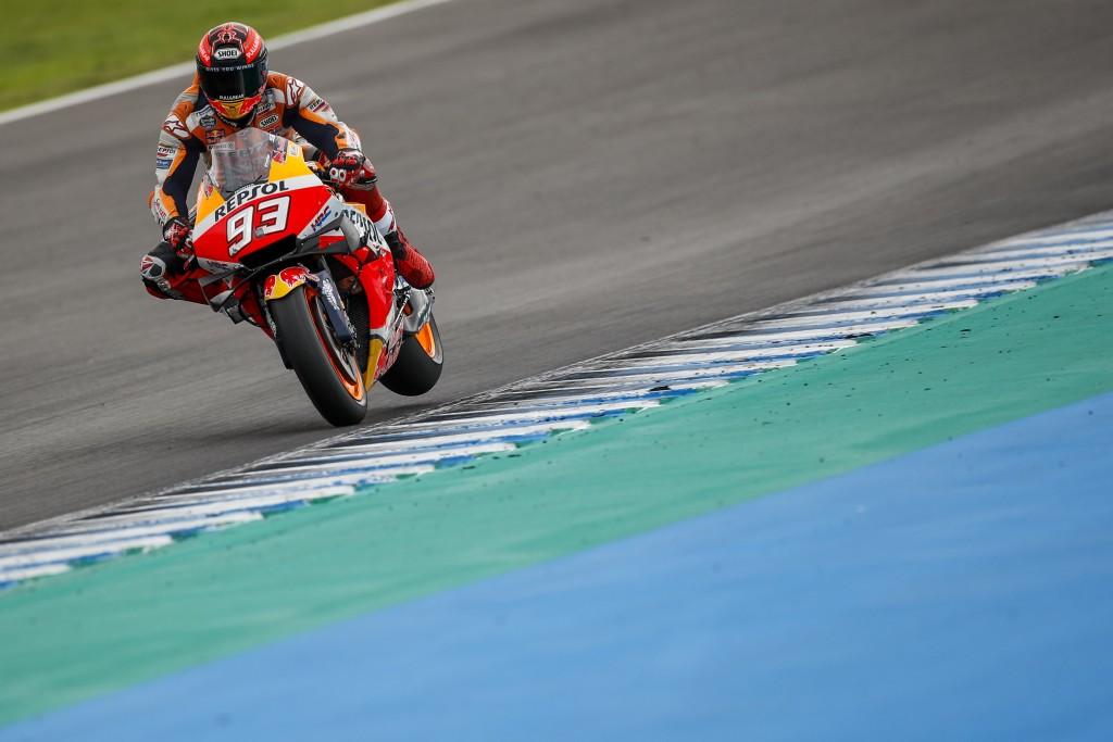 Marquez w akcji w Jerez - zdjęcia: Repsol