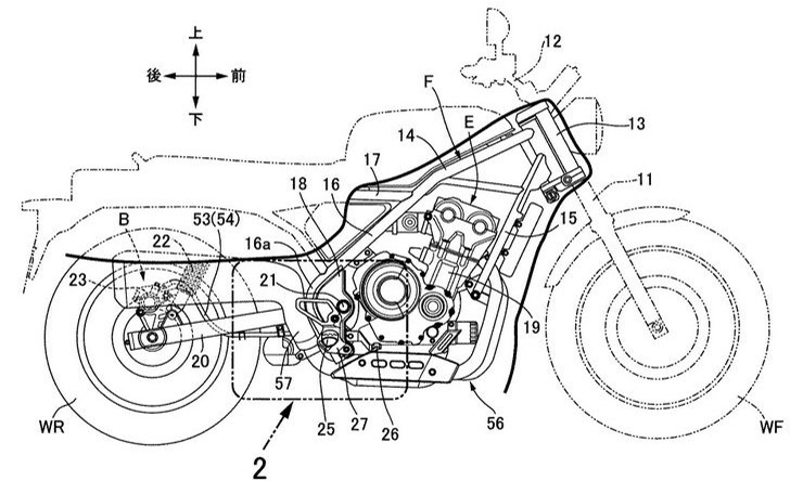 Honda retro scrambler patent